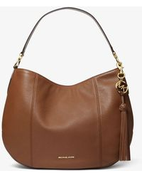 Michael Kors Mk Brooke Large Pebbled Leather Shoulder Bag - Brown