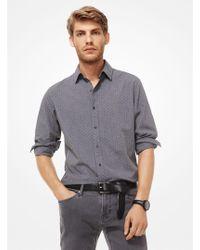 Michael Kors - Camisa slim-fit estampada de algodón - Lyst