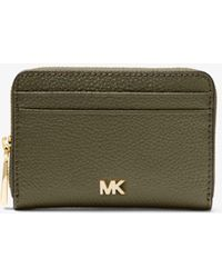 8c5150ca7ffb Lyst - Michael Kors Travel Saffiano Leather Wallet in Blue