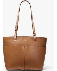 Michael Kors Michael Bedford Leather Pocket Tote Bag - Brown