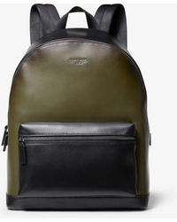 7ccb4368da12 Michael Kors Odin Leather Backpack in Black for Men - Lyst