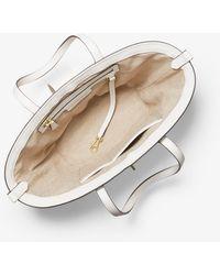 Michael Kors Malibu Small Straw Tote Bag - White
