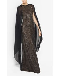Michael Kors - Sequined Cape Gown - Lyst