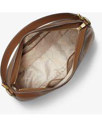 Michael Kors Mk Brooke Large Pebbled Leather Shoulder Bag - Brown
