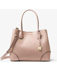 Michael Kors - Mercer Gallery Medium Pebbled Leather Satchel - Lyst