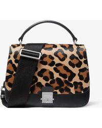 a206f8e95bf0 Michael Kors - Mia Leopard Calf Hair Shoulder Satchel - Lyst