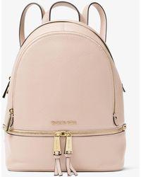 MICHAEL Michael Kors Michael Rhea Zip Small Pebble Leather Backpack - Pink