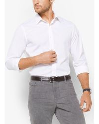 Michael Kors - Slim-fit Stretch-cotton Shirt - Lyst
