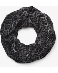Michael Kors - Cheetah Cashmere Infinity Scarf - Lyst