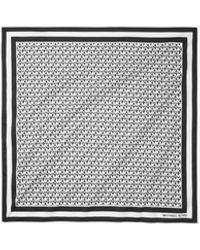 Michael Kors Logo Cotton Scarf - Black