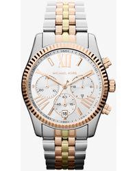 Michael Kors Reloj Lexington oversize en tres tonos - Metálico