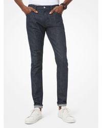 Michael Kors Vaquero skinny Parker de algodón elástico - Azul