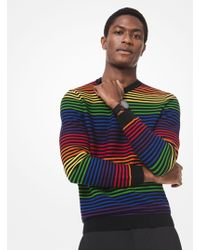 fcf22c2f0e083c Michael Kors Love Intarsia Cashmere Oversized Pullover in Blue for ...