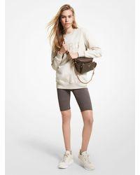Michael Kors Logo Nylon Blend Bike Shorts - Brown