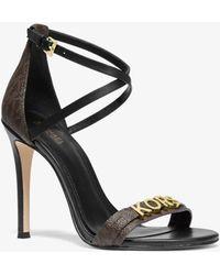 Michael Kors Goldie Logo Sandal - Brown