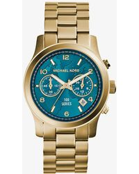 Michael Kors - Watch Hunger Stop Runway Gold-tone Stainless Steel Watch - Lyst