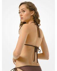 Michael Kors Logo Triangle Bikini Top - Brown