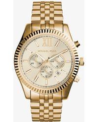 Michael Kors Lexington Gold-tone Watch - Metallic