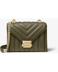 MICHAEL Michael Kors - Whitney Small Quilted Leather Convertible Shoulder Bag - Lyst