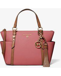 Michael Kors Sullivan Small Two-tone Saffiano Leather Top-zip Tote Bag - Multicolour