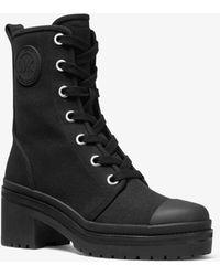 Michael Kors Corey Canvas Combat Boot - Black