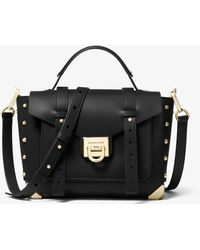 Michael Kors Manhattan MD School Satchel Bag Black - Noir