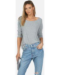 Michael Lauren Kenny Core Pullover - Gray