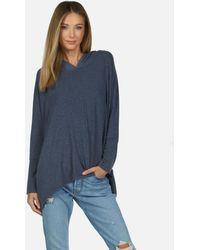 Michael Lauren Dash Core Oversized Hoodie - Blue