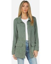 Michael Lauren Azriel Cargo Jacket - Green
