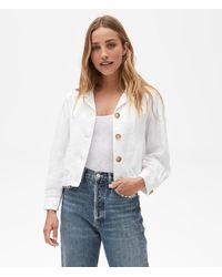 Michael Stars Babe Linen Jacket - White