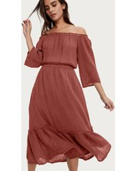 Michael Stars Anya Convertible Dress - Red