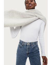 Michael Stars Edie Brushed Knit Scarf - Gray