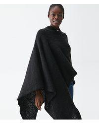 Michael Stars Jamie Hooded Pullover - Black