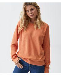 Michael Stars Mira Thermal Pullover - Orange