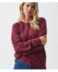 Michael Stars Mira Thermal Pullover - Red
