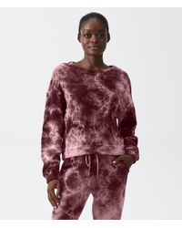 Michael Stars Ezra Tie Dye Sweatshirt - Red