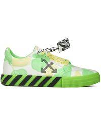 Off-White c/o Virgil Abloh Tie Dye Vulcanized Sneakers - Green