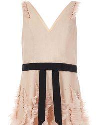 Marchesa notte Short Dress - Pink