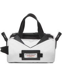 Givenchy Downtown Tube Shoulder Bag In White Nylon With Removable Shoulder Strap.