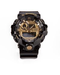 G-Shock Black *icon Watch In Collaboration With Clementino With Golden Details And Multi Functions