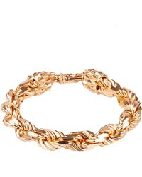 Emanuele Bicocchi Golden*icon Braided Bracelet In Silver 925 With Label With Engraved Brand Logo - Metallic