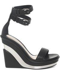 Alexander McQueen Trompe L'oeil Sandals - Black