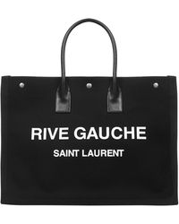 Saint Laurent - Ysl Rive Gauche Tote Bag - Lyst