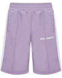 Palm Angels Shorts Track - Viola