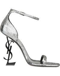 Saint Laurent Opyum Sandals - Metallic