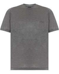 Brioni T-shirts And Polos Gray