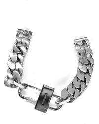 Givenchy Bracciale G Chain Lock - Metallizzato