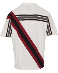 Facetasm Striped White Cotton-jersey T-shirt, Crew Neckline And Short Sleeves - Multicolor