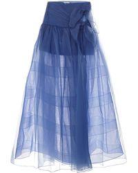 RAISA & VANESSA Maxi Skirt - Blue