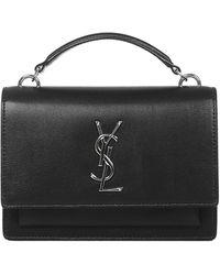 Saint Laurent Sunset Hand Bag - Black